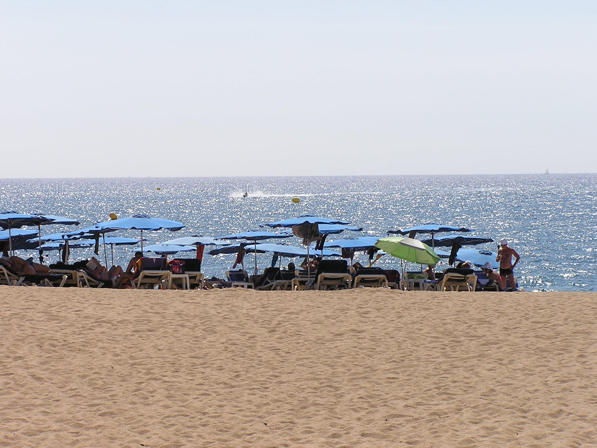 Una de les platges de Calella