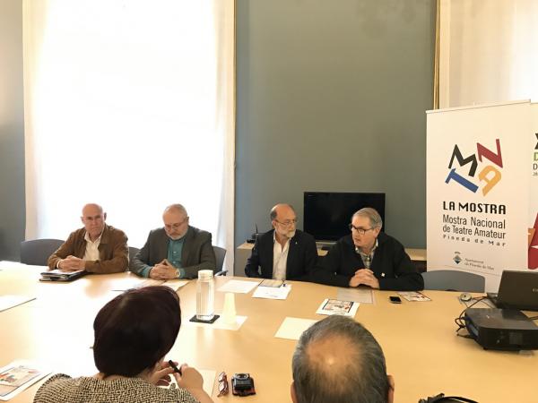 Presentació de la Mostra de Teatre Amateur de Pineda d'enguany. Foto: Aj. Pineda