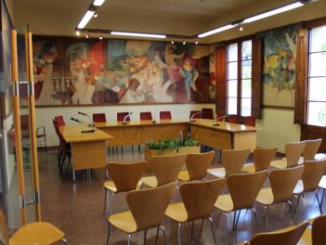 Sala d'actes de l'Ajuntament de Tiana. Foto: tiana.cat