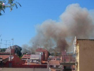 Un incendi crema dues hectàrees de vegetació a Pineda