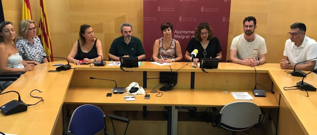 Roda de premsa del govern de Malgrat per explicar els resultats de la consulta