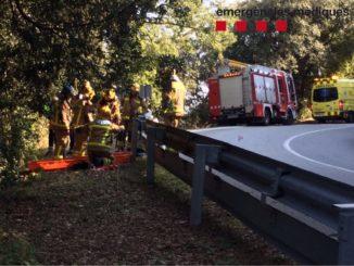 Accident a la C-61 a Arenys de Mar. Foto: SEM