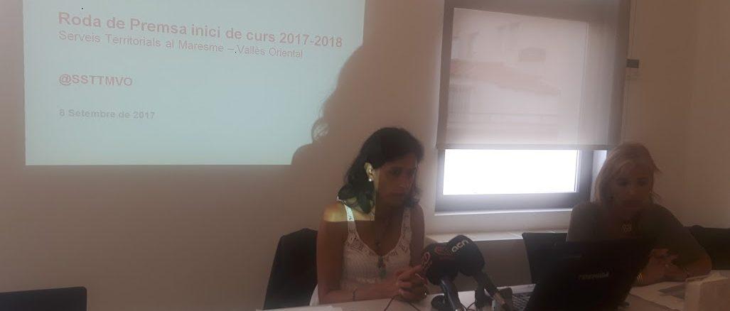 Roda de premsa del nou curs escolar al Maresme