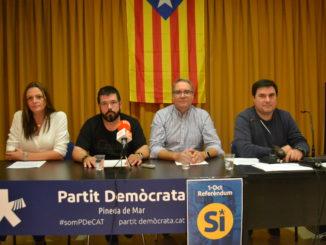 El PDeCAT trenca amb el PSC a Pineda per la qüestió nacional. Foto: Ràdio Pineda