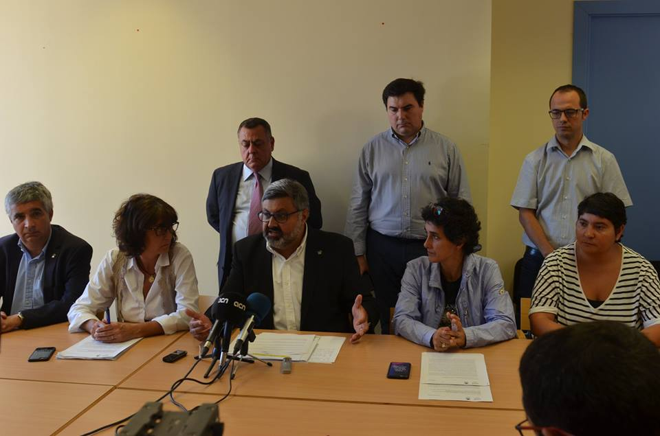 CiU i PSC trenquen a Mataró i Sant Vicenç. Foto: Facebook PDeCAT Mataró