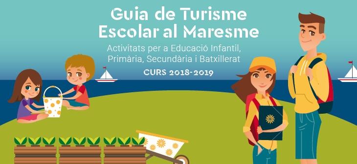 Bàner de la Guía que posa recursos turístics a disposició de la comunitat educativa