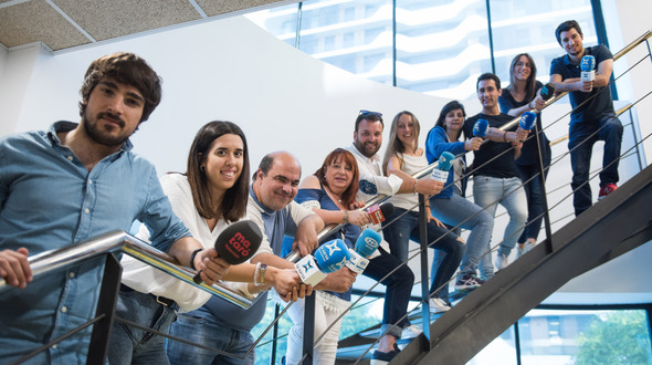 L'equip del programa Ona Maresme. Foto: La Xarxa