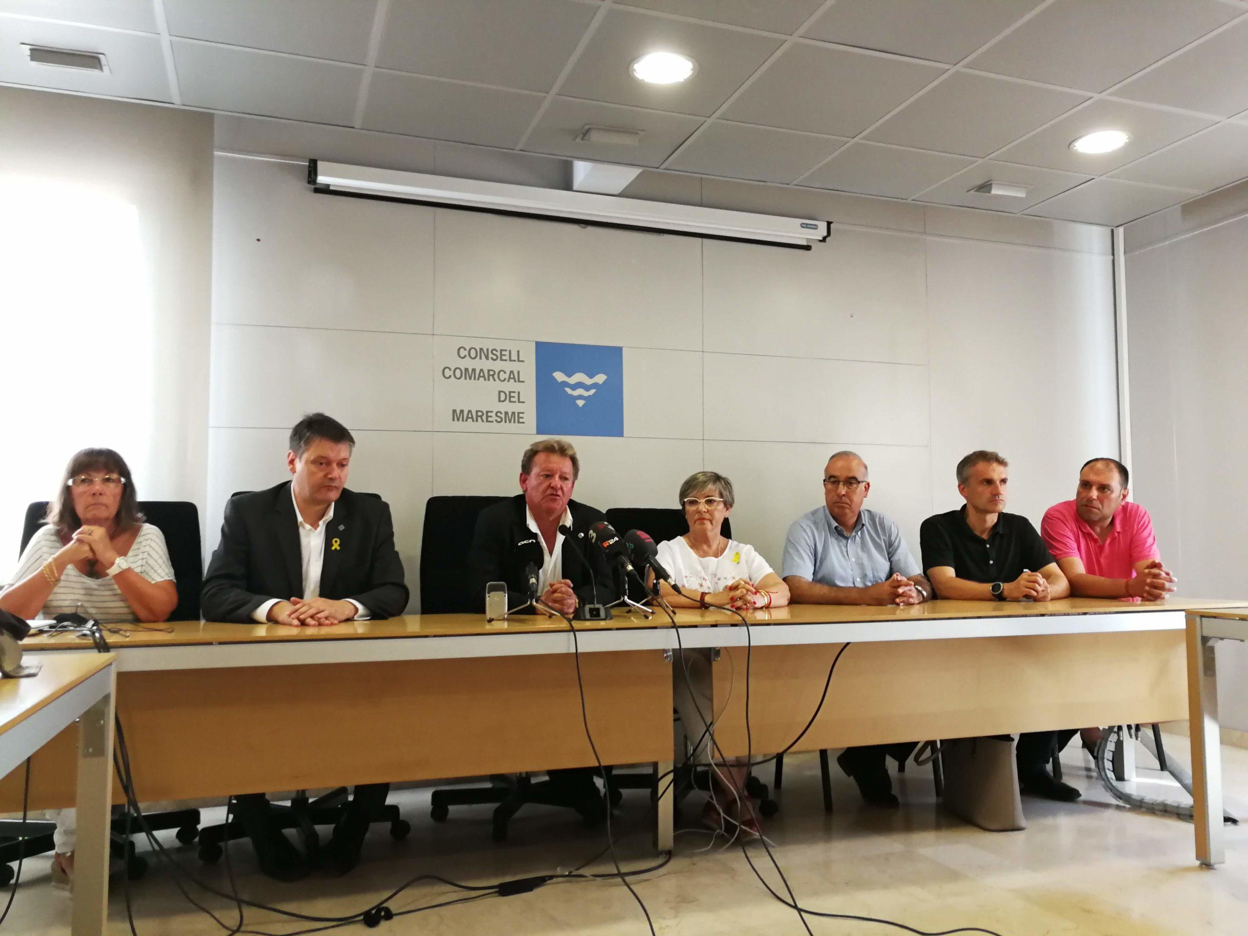 M;iquel Àngel Martínez ha comparegur amb el seu govern del PDeCAT per anunciar la seva dimissió