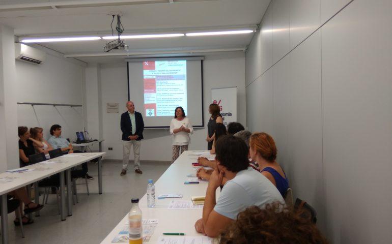 Una de les sessions de El Centre-Eix de Negoci de Santa Coloma de Farners. Foto: Centre de Negoci