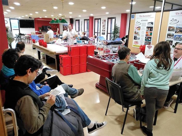 Donació de sang a Sant Vicenç de Montalt. Foto: Aj. Sant Vicenç
