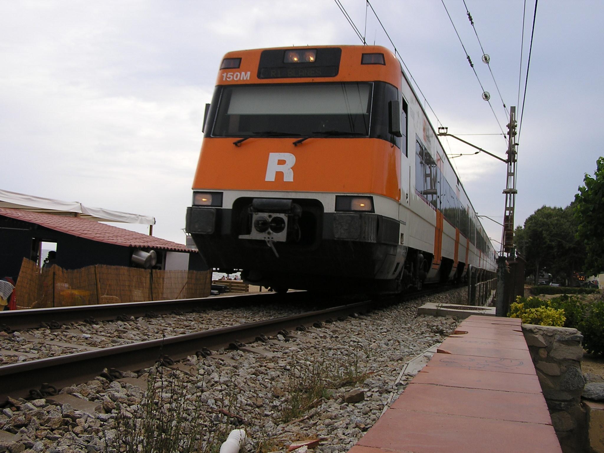Tren de la línia de rodalies del Maresme. Foto: maresme360