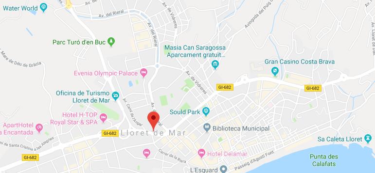 Un home ha mort en caure d'una teulada a Lloret de Mar. Foto: Google Maps