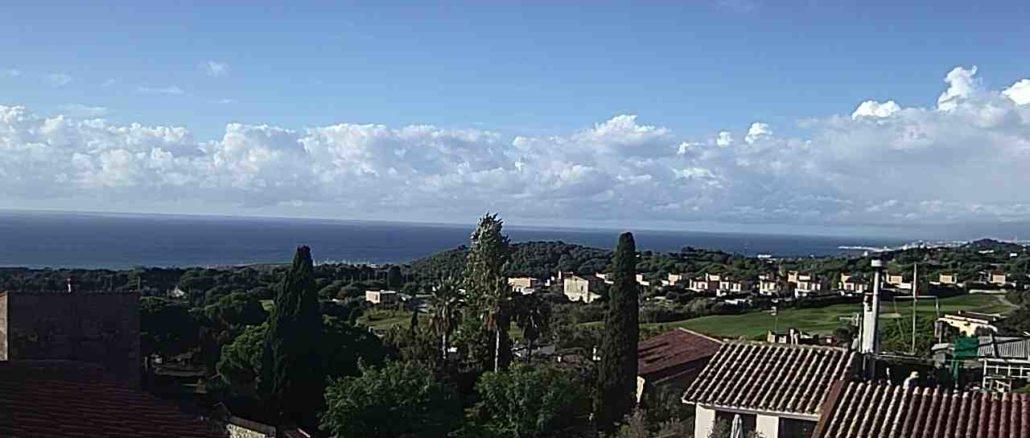 Imatge del cel a Sant Vicenç de Montalt. Foto: Aj. Sant Vicenç