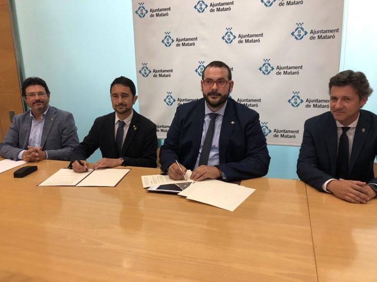 Signatura conveni cessió N-II