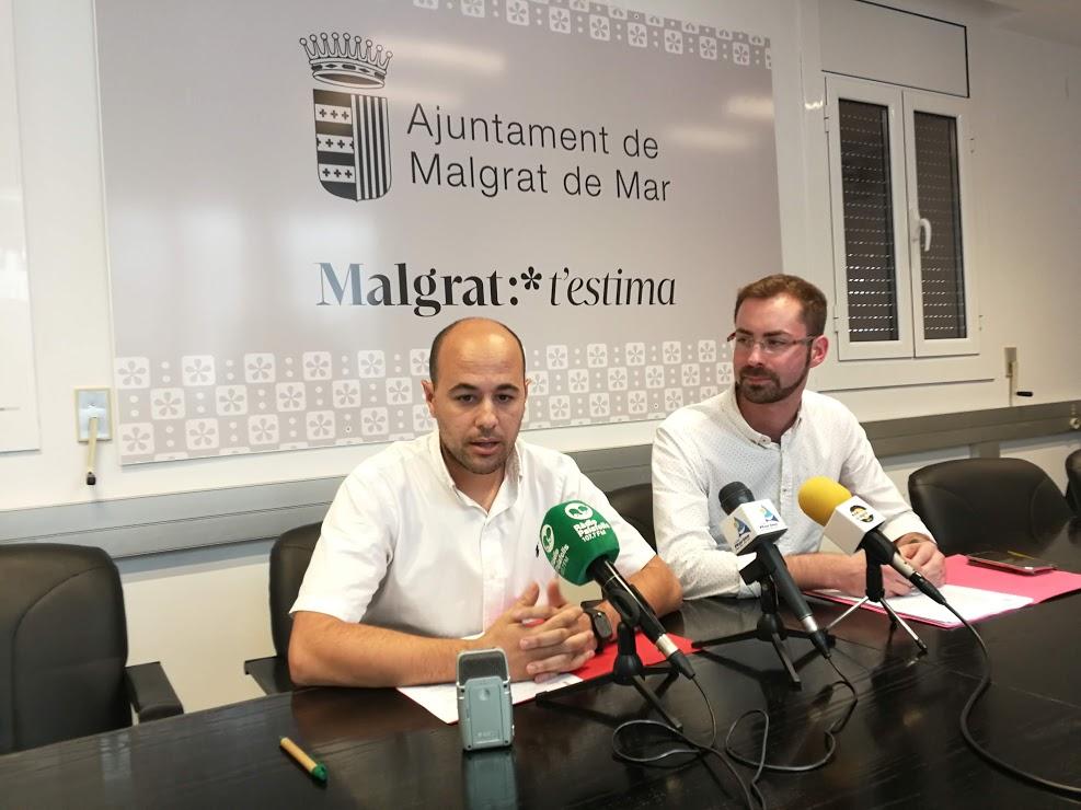 Joan Mercader (esquerra) i Jofre Serret en roda de premsa