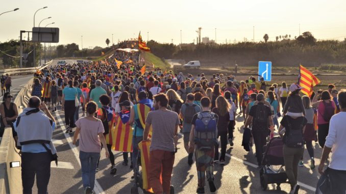 Manifestants a Mataró. Foto: Marina Alaminos