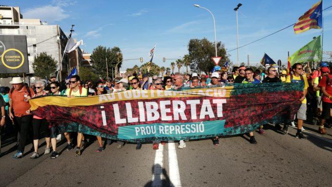Capçalera de la Marxa per la Llibertat. Foto: Aina Casabella