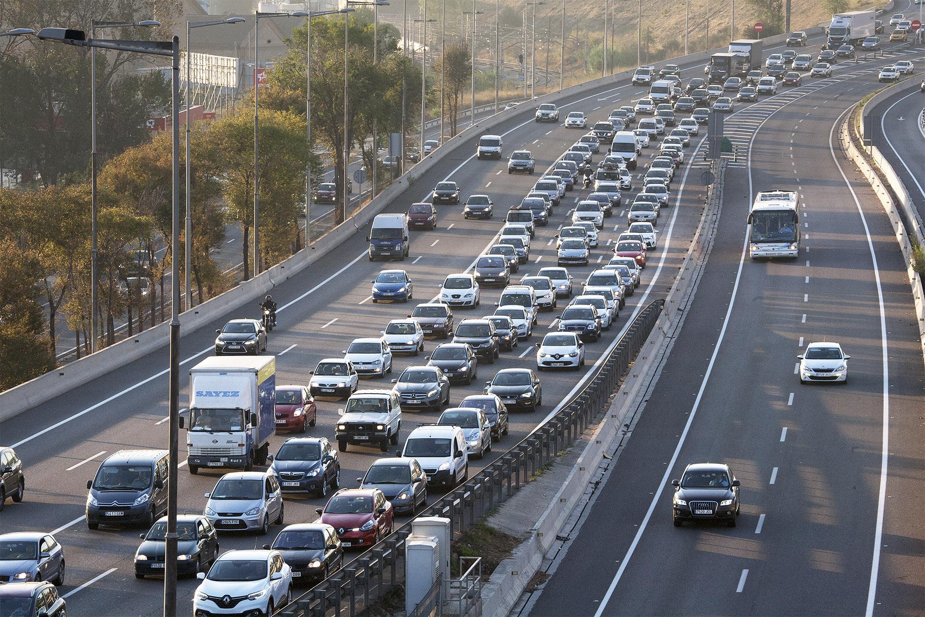 Congestió per entrar a Barcelona en cotxe