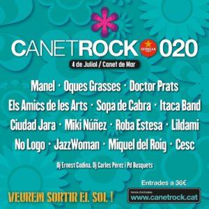 Cartell del Canet Rock 2020. Foto: Canet Rock
