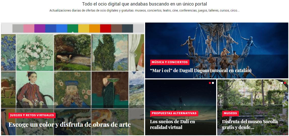 El portal Ocio Digital