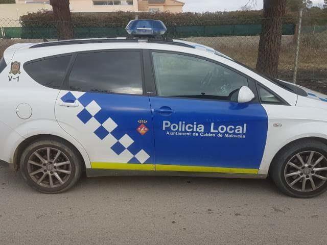 Vehicle de la Policia Local de Caldes de Malavella