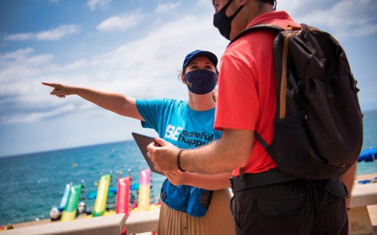 El servei d'informadors turístics ha estat valorat positivament per un 93% dels usuaris. Foto: Aj. Lloret