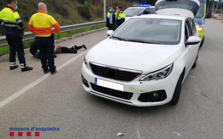 Un dels robatoris es va produir a l'alçada d'Hostalric. Foto: cedida a l'ACN pels Mossos d'Esquadra