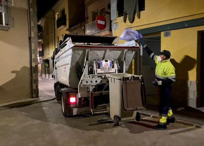 El porta a porta fa créixer el reciclatge a Caldes. Foto: Consell Comarcal