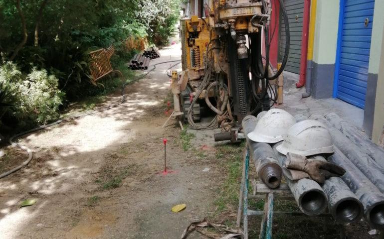 Obres de reparació del camí dels Ollers a Hostalric. Foto: cedida a l'ACN per l'Aj. d'Hostalric