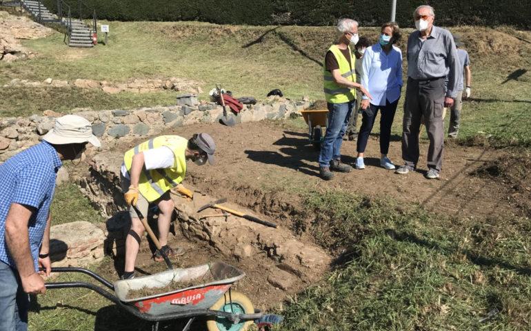 Excavacions a la vil·la romana de Tossa