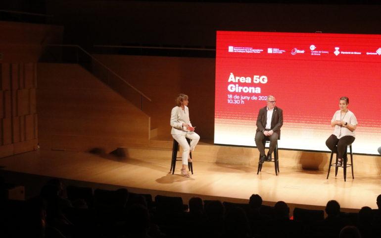 Presentació de l'Àrea 5G Girona. Foto: ACN - Xavier Pi
