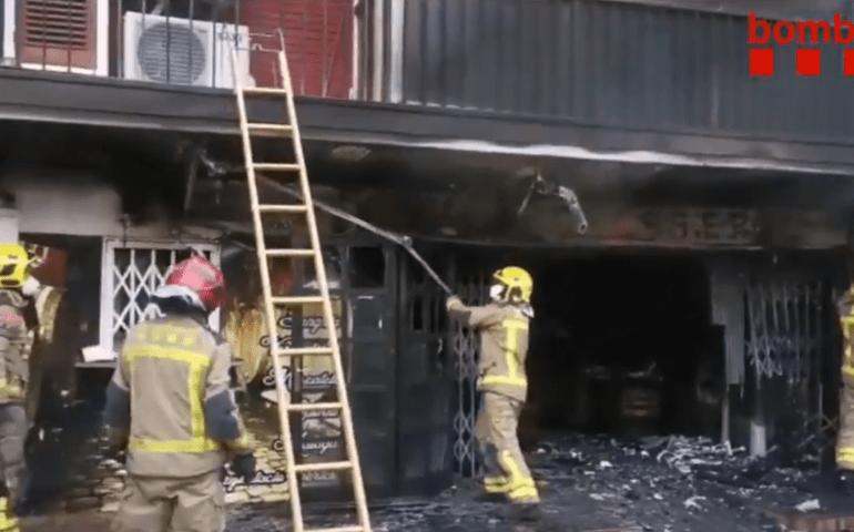 Incendi restaurant Malgrat de Mar