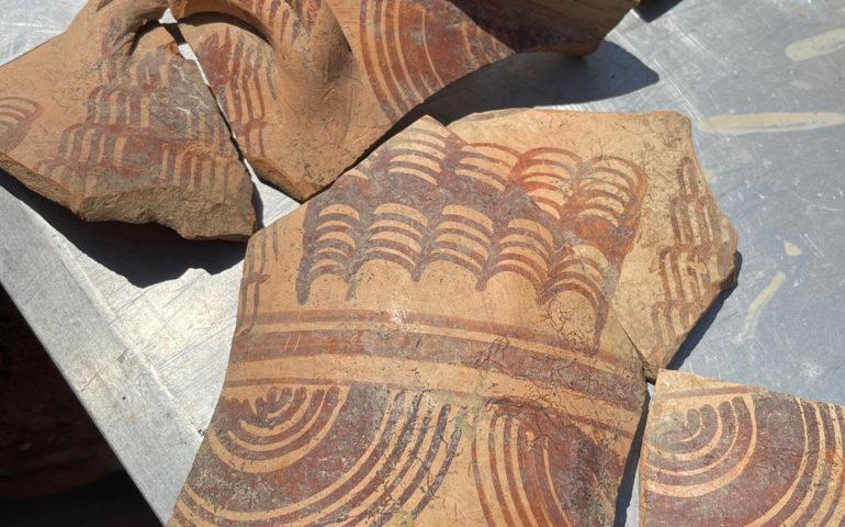 Peces de ceràmica trobades al Castell d'Hostalric