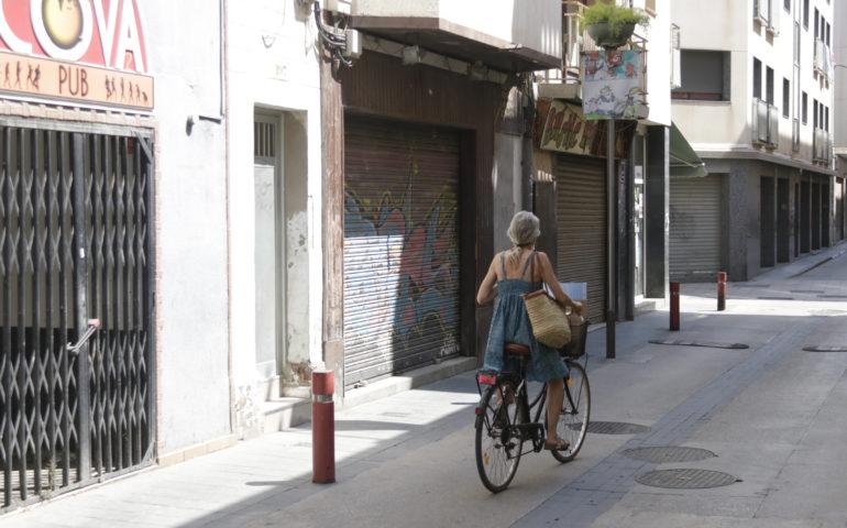 El carrer Jovara de Calella