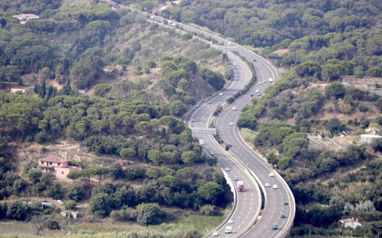 Autopista C-32 al seu pas per l'Alt Maresme